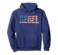 Rebel B Ross American Flag 1776 Vintage Distressed Shirts Hoodie Navy