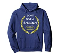 I Don\\\'t Give A Schnitzel Shirt, Funny Beer Drinking Gift Hoodie Navy