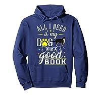 Bernese Mountain Dog Gift Funny Saying Book Love Reading Premium T-shirt Hoodie Navy