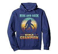 Cool Bigfoo Hide And Seek World Champion Shirts Hoodie Navy