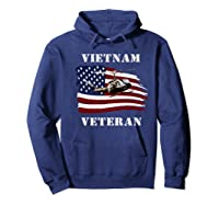 Vietnam Veterans Uh 1 Huey Helicopter American Flag Shirts Hoodie Navy