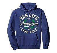 Van Dweller Clothing & Van Life Apparel - Van Life Premium T-shirt Hoodie Navy