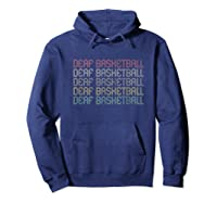 Retro Style Deaf Basketball T-shirt Hoodie Navy