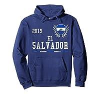 El Salvador Football 2019 Salvadorean Soccer T-shirt Hoodie Navy