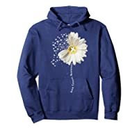 Lung Cancer Awareness Sunflower Ribbon Gift Shirts Hoodie Navy