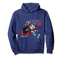 The Smurfs Run Run Run Shirts Hoodie Navy
