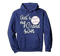 That's My Grandson Mom Baseball Shirts Hoodie Navy