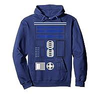 Star Wars R2-d2 Costume T-shirt Hoodie Navy