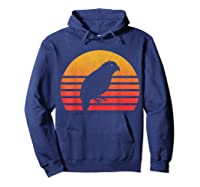 Vintage Retro Sunset Kakapo T-shirt Hoodie Navy