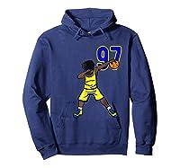 Basketball Birthday T-shirt 97 Funny Dabbing Shirt Dab Hoodie Navy
