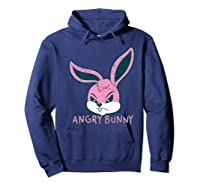 Angry Bunny Rabbit Lovers Cute Bunnies Happy Easter Day Gift Shirts Hoodie Navy