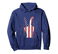 Peace American Flag Funny Gift 4th Of July Shirt Hoodie Navy