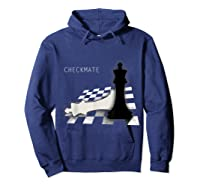 Checkmate Funny Cute Gift For Cool Chess Player Shirts Hoodie Navy