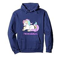 I'm Magical Rainbow Unicorn Shirts Hoodie Navy
