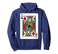Jack Of Diamonds Playing Card Group Costume Poker Player T-shirt Hoodie Navy