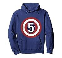 Superhero Comic Birthday T Shirt 5 Year Old Hoodie Navy