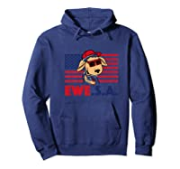 Funny July 4th Independence Day T-shirt Ewe S A Hoodie Navy