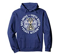 Sky Above Earth Below Peace Within Goat Yoga Cute Funny Premium T-shirt Hoodie Navy
