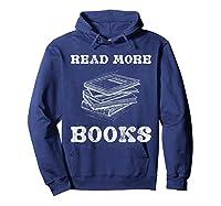 Read More Books English Tea School Reading Gift Shirts Hoodie Navy