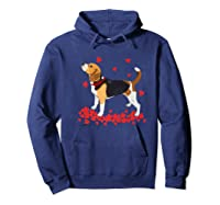 I Love My Beagle T Shirt Valentine Gift For Beagle Hoodie Navy