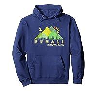 Retro Vintage Denali National Park Shirts Hoodie Navy