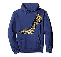 Cool Pointy Leopard Animal Print High Heels Shirt Gift Hoodie Navy