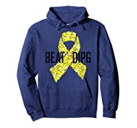 Inspirational Beat Dipg T-shirt - Dipg Awareness Hoodie Navy