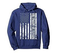 American Flag Vietnam Veteran T-shirt Hoodie Navy