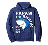Papaw Shark Halloween Christmas Gift Shirts Hoodie Navy