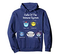 Immune System Cells Biology Cell Science Humor Immunologist Shirts Hoodie Navy
