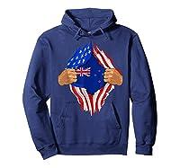 New Zealand Blood Inside Me T-shirt   New Zealand Flag Gift Hoodie Navy