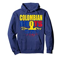 Storecastle Colombian Roots Colombia Flag Pride Shirts Hoodie Navy