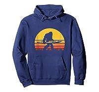 Retro Kayak Vintage Sasquatch Kayaking Tank Top Shirts Hoodie Navy
