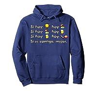 Si Hay Playa Hay Alcohol - Callaita Trap Bunny Emoji T-shirt T-shirt Hoodie Navy