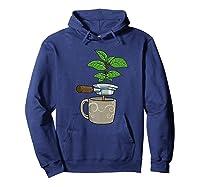 Coffee Plant Espresso Machine For Coffee Drinker Shirts Hoodie Navy