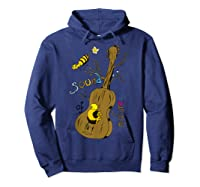 The Sound Of Guitar Tree Nature Shirts Hoodie Navy