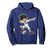 Dabbing Soccer Boy South Korea, Korean Flag Shirts Hoodie Navy