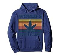 World\\\'s Dopest Aunt Weed Vintage T-shirt Hoodie Navy