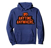 Anytime Anywhere Flyers Shirts Hoodie Navy