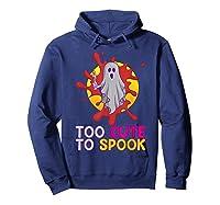 Cute Ghost Girls Costume Spooky Halloween T-shirt Hoodie Navy