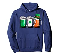 Irish Beer Ireland Flag St Patricks Day Leprechaun Shirts Hoodie Navy