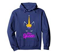 E Queen For Unicorn Lovers Shirts Hoodie Navy