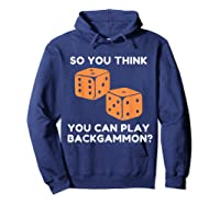Best Ever Funny Backgammon Player Tee Board Game T Shirt Hoodie Navy
