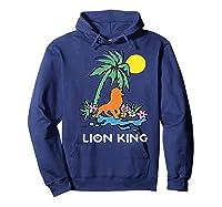 The Lion King Simba Spring Palm Tree Shirts Hoodie Navy