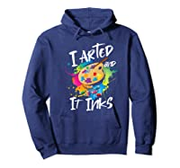Gift For Artist Gifts For Painters Painter Gift Ideas Artist Premium T-shirt Hoodie Navy