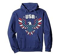 Patriotic American Flag Bald Eagle Usa T Shirt  Hoodie Navy