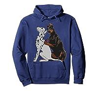 Cute Fashionable Doberman Tattooing Dalmatian Dog Gift Shirts Hoodie Navy
