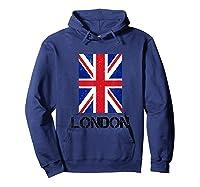 London, England Union Jack Shirts Hoodie Navy
