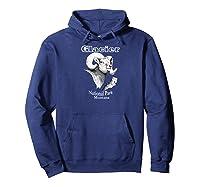 Glacier National Park. Bighorn Ram. Montana T-shirt Hoodie Navy