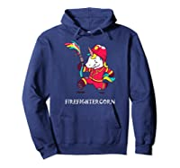 Firefightercorn Funny Unicorn As Firefighter Shirts Hoodie Navy